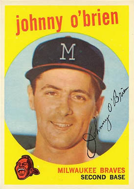 1959 Topps Johnny O'Brien #499 Baseball Card