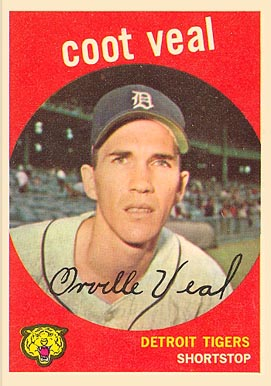 1959 Topps Coot Veal #52 Baseball Card