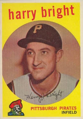 1959 Topps Harry Bright #523 Baseball Card