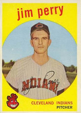 1959 Topps Jim Perry #542 Baseball Card