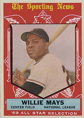 1959 Topps Willie Mays #563 Baseball Card