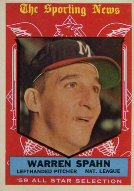 1959 Topps Warren Spahn #571 Baseball Card