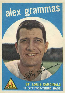 1959 Topps Alex Grammas #6 Baseball Card