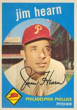 1959 Topps Jim Hearn #63 Baseball Card