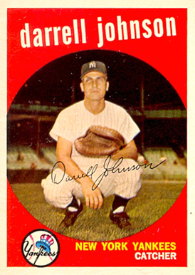 1959 Topps Darrell Johnson #533 Baseball Card