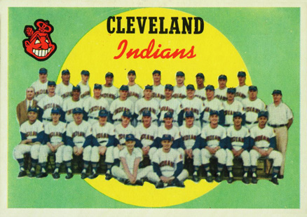 1959 Topps Cleveland Indians Team #476 Baseball Card