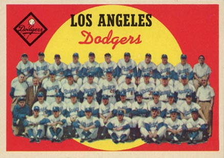1959 Topps Los Angeles Dodgers Team #457 Baseball Card