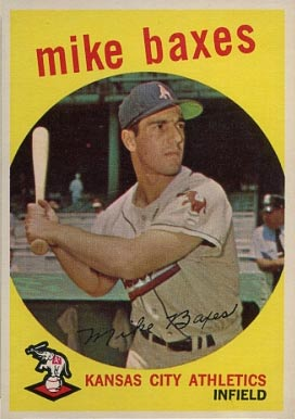 1959 Topps Mike Baxes #381 Baseball Card