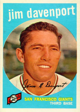1959 Topps Jim Davenport #198 Baseball Card