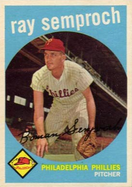1959 Topps Ray Semproch #197 Baseball Card