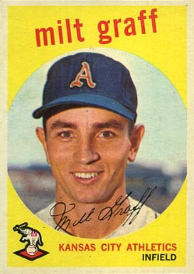 1959 Topps Milt Graff #182 Baseball Card