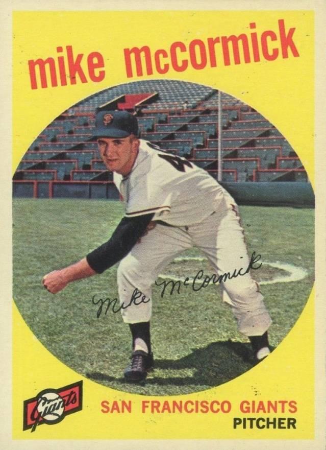 1962 MIKE McCORMICK San Francisco GIANTS original vintage 1962 Topps baseball card number 107