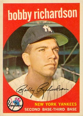1959 Topps Bobby Richardson #76 Baseball Card