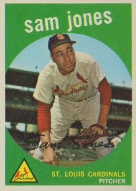 1959 Topps Sam Jones #75 Baseball Card