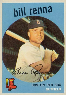 1959 Topps Bill Renna #72 Baseball Card