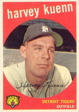 1959 Topps Harvey Kuenn #70 Baseball Card
