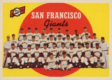 1959 Topps San Francisco Giants Team #69 Baseball Card