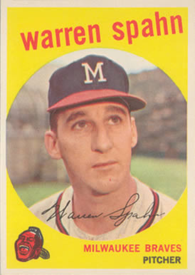 1959 Topps Warren Spahn #40-born 21 Baseball Card