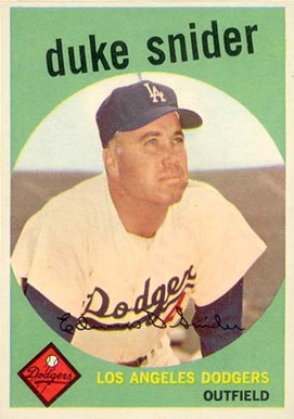 1959 Topps Duke Snider #20 Baseball Card