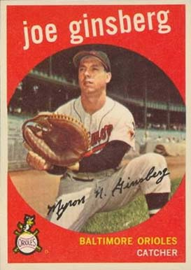 1959 Topps Joe Ginsberg #66 Baseball Card