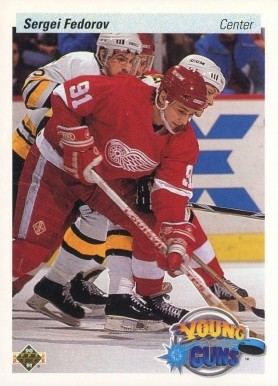 1990 Upper Deck Sergei Fedorov #525 Hockey Card
