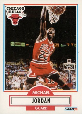 1990 Fleer Michael Jordan #26 Basketball Card