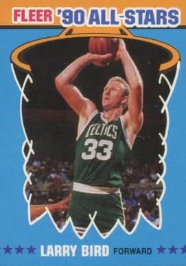 1990 Fleer All-Stars Sticker Larry Bird #2 Basketball Card