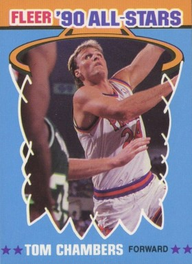 1990 Fleer All-Stars Sticker Tom Chambers #8 Basketball Card