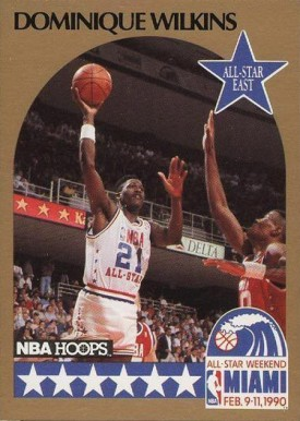 1990 Hoops Dominique Wilkins AS #12 Basketball Card