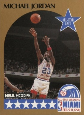 1990 Hoops Michael Jordan #5 Basketball Card