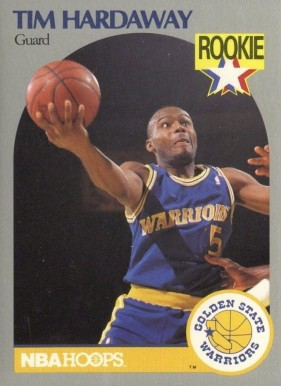 1990 Hoops Tim Hardaway #113 Basketball Card