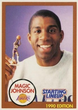1990 Kenner Starting Lineup Magic Johnson/brown #7 Basketball Card