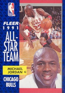 1991 Fleer Michael Jordan #211 Basketball Card