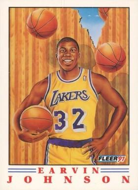 1991 Fleer Pro-Visions Magic Johnson #6 Basketball Card Value Price