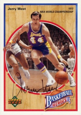 1991 Upper Deck Jerry West Heroes Jerry West #5 Basketball Card
