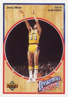 1991 Upper Deck Jerry West Heroes Jerry West #6 Basketball Card