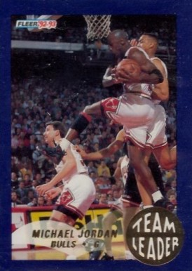 1992 Fleer Team Leaders Michael Jordan #4 Basketball Card