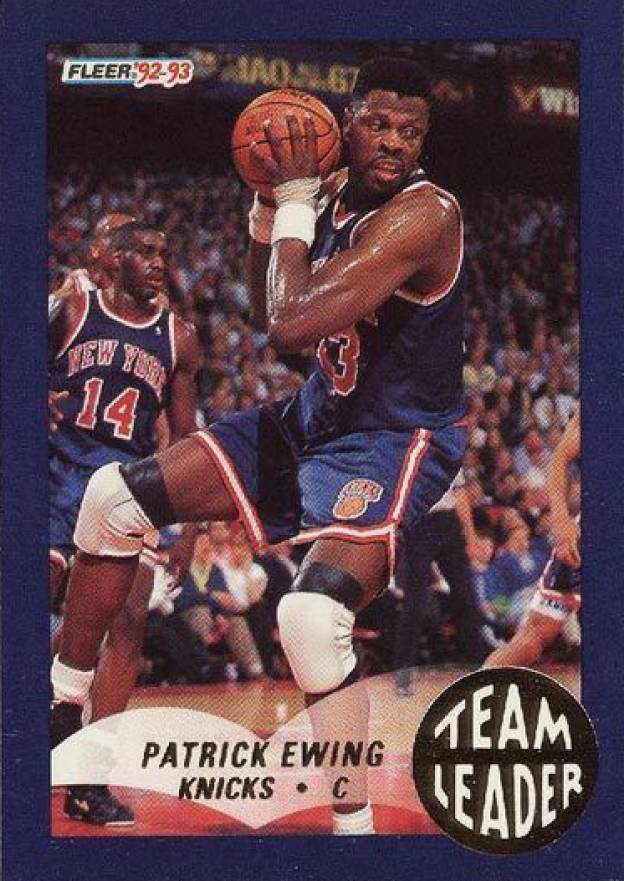 1992 Fleer Team Leaders Patrick Ewing #18 Basketball Card