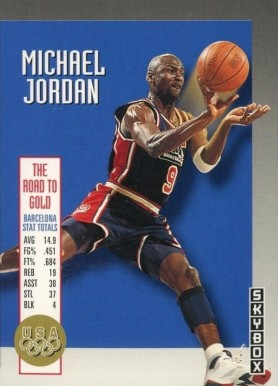 1992 Skybox Olympic Team Michael Jordan #USA11 Basketball Card