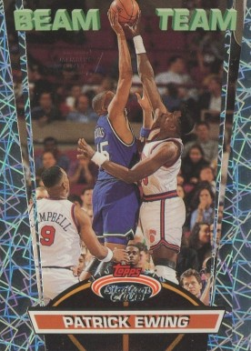 1992 Stadium Club Beam Team Patrick Ewing #18 Basketball Card