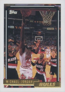 1992 Topps Gold Michael Jordan #141 Basketball Card