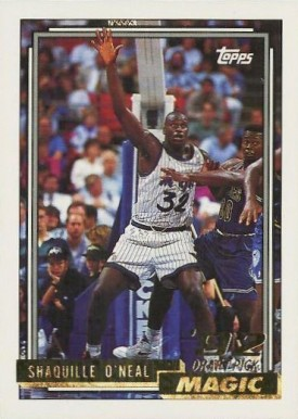 1992 Topps Gold Shaquille O'Neal #362 Basketball Card