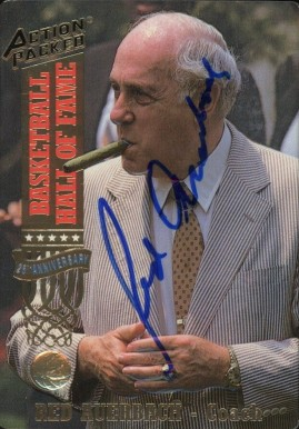 1993 Action Packed Hall of Fame Red Auerbach #11 Basketball Card