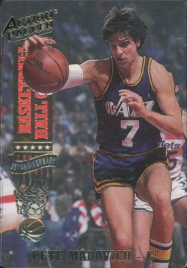 1993 Action Packed Hall of Fame Pete Maravich #39 Basketball Card
