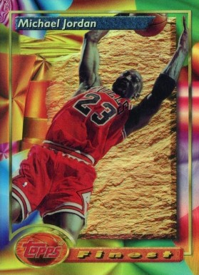 1993 Finest Refractor Michael  Jordan #1 Basketball Card