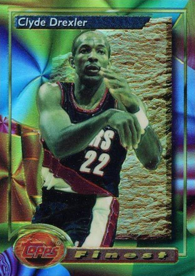 1993 Finest Refractor Clyde Drexler #74 Basketball Card