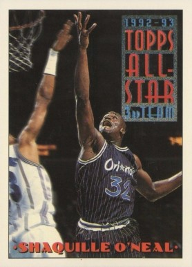 1993 Topps Shaquille O'Neal AS #134 Basketball Card