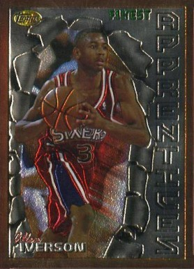1996 Finest Allen Iverson B #69 Basketball Card