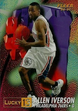1996 Fleer Lucky 13 Allen Iverson #1 Basketball Card
