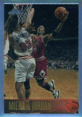 1996 Topps Chrome Refractor Michael Jordan #139 Basketball Card